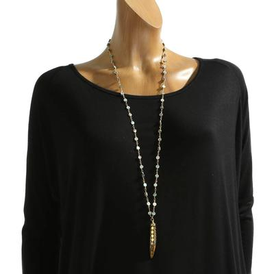 Sandra Brooks Mother of Pearl Horn Necklace