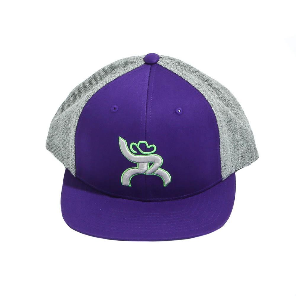 hooey hybrid bill cap in purple d d outfitters