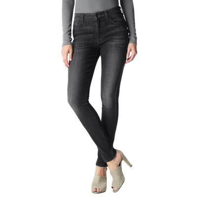 7 For All Mankind High Waist Skinny Jean in Vintage Black BLK