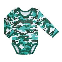 Wrangler Boys' Long Sleeve Bodysuit in Printed Green Camo