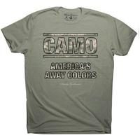 Rowdy Gentleman Camo Vintage T-Shirt in Green