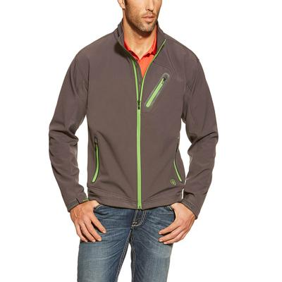 Ariat Men's Forge Softshell Jacket in Gray NINEIRON