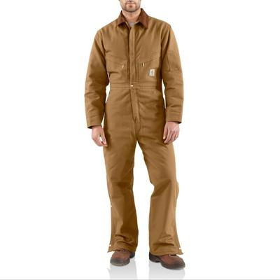 Carhartt Men's Quilt Lined Duck Coverall BRN