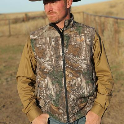 Cinch Men's Realtree Bonded Softshell Vest