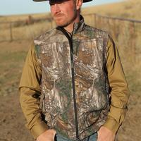 Cinch Men's Realtree Bonded Softshell Vest
