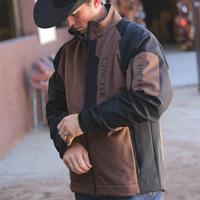 Cinch Men's Color Blocked Bonded Softshell Jacket - Extended Size