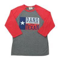 ATX Mafia Women's Dang it Feels Good to be Texan 3/4 Sleeve Shirt