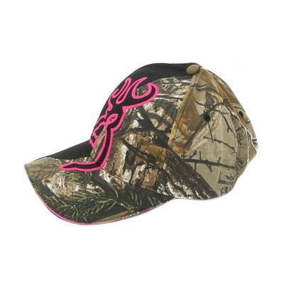 Browning Women's Big Buckmark In Black And Camo Cap