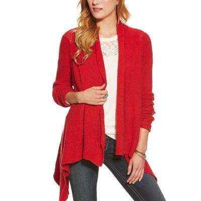 Ariat Gillian Sweater is Red SAMBA