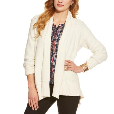 Ariat Gillian Sweater in White OATMEAL