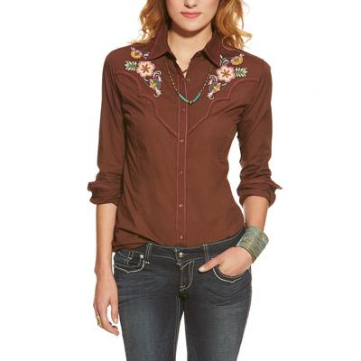 Ariat June Fitted Snap Shirt CHOC