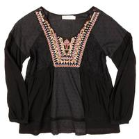 Miss Me Girls' Back to Boho Peasant Top