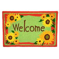 Home Comfort Welcome Sunflower Rug