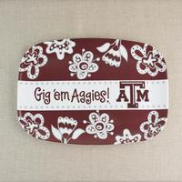 Glory Haus Texas A&M Melamine Platter
