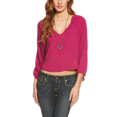 Ariat Cora Cropped Blouse VIOLINA