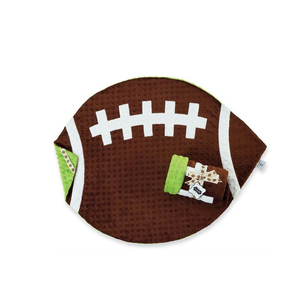 Mud Pie Football Blanket