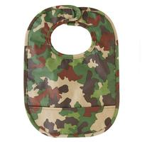 Mud Pie Camo Wipe Away Pocket Bib