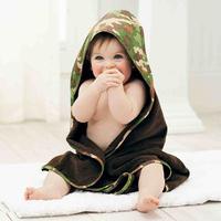 Mud Pie Camo Hooded Towel