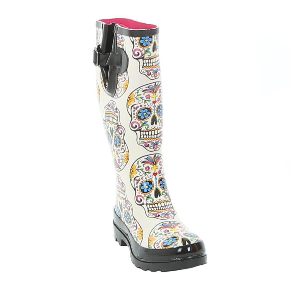Blazin Roxx Rocki Sugar Skull Rain Boot | D&D