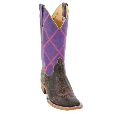 Anderson Bean Women's Purple Diamond Top Cowgirl Boots