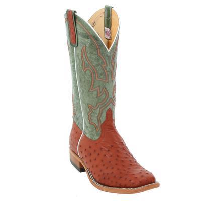 Anderson Bean Men's Almond Ostrich Cowboy Boots