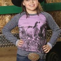 Cruel Girl Field of Horses Sweater