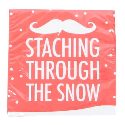Staching Through The Snow Beverage Napkins