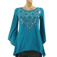 Beaded Jersey Knit Top by Panhandle Slim