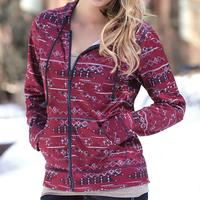 Southwestern Print Zippered Hoodie by Cruel Girl
