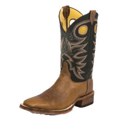 Justin Bent Rail Tobacco Cowhide Cowboy Boots