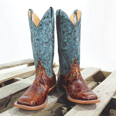 Anderson Bean Monet Aqua Western Boots