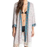 Roxy Woodstock Kimono Cover Up EGRET