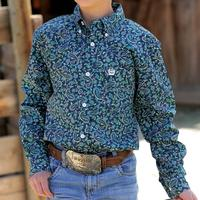 Cinch Boy's Navy Paisley Shirt
