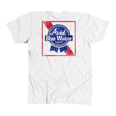 Avid Men's Blue Water T-Shirt WHITE