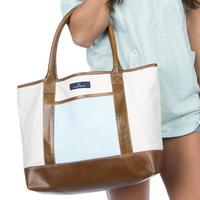 Lauren James Women's Seersucker Canvas Tote