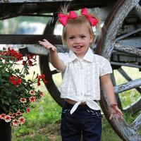 Wrangler Toddler's Cap Sleeve Tie Shirt
