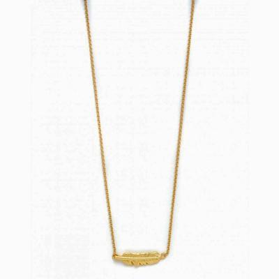 Spartina 449 Gold Follow Your Dreams Feather Necklace
