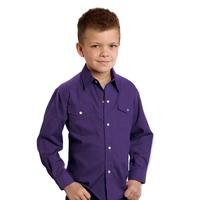 Roper Boy's Solid Poplin Snap Shirt