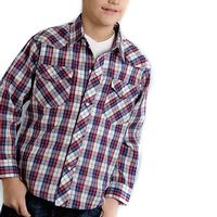 Roper Boy's Red Plaid Snap Shirt