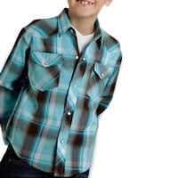 Roper Boy's Blue Plaid Snap Shirt