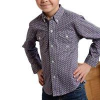 Roper Boy's Cloud Paisley Foulard Shirt