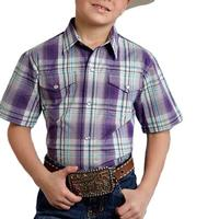 Roper Boy's Grapevine Snap Shirt