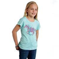 Roper Girl's Floral Horse T-Shirt