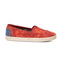 Toms Women's Red Hibiscus Canvas Shoes