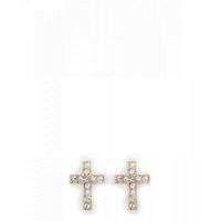Spartina 499 Gold Cross Earrings