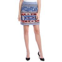 Karen Kane Women's Bandana Jacquard Skirt