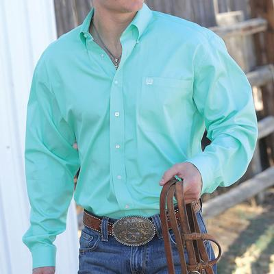 Cinch Men's Classic Green Shirt