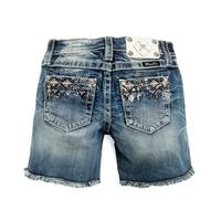 Miss Me Girl's Crystal Mid Short