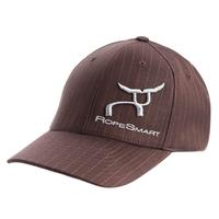 Ropesmart Men's Flexfit Brown Pinstripe Cap