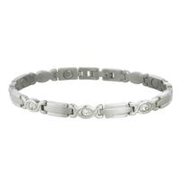 Sabona Women's Executive Silver Gem Bracelet